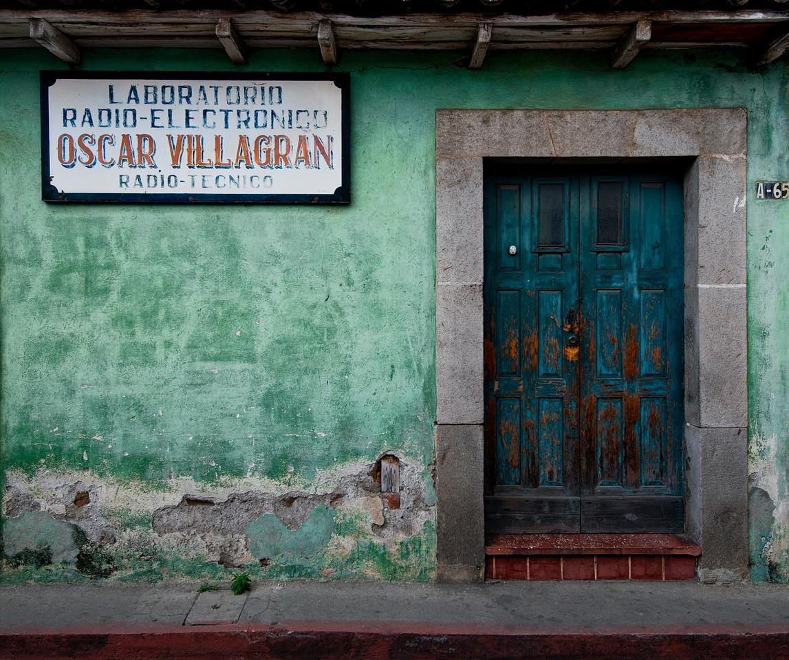 Radio technician shop.<br /> <br /> Guatemala. 2014.