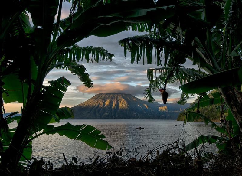 Lago Atitlan at sunrise.<br /> <br /> Guatemala, 2014.