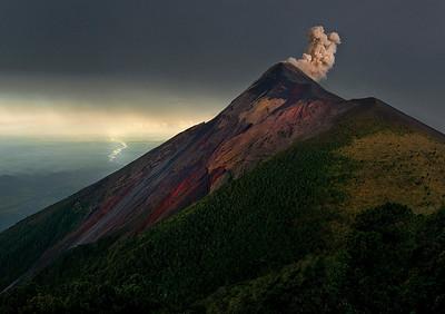 Volcan Fuego.  Guatemala, 2014.
