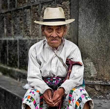 Portrait of a Mayan man in Santiago de Atitlan.  Guatemala, 2014.