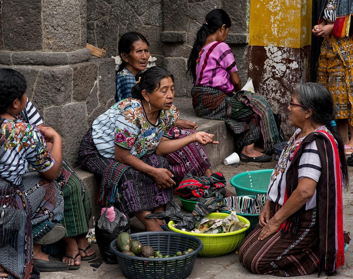 Mayan women at the market.
