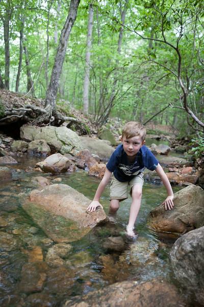 Kyle walking up the creek again. Digital, Trout Pond Recreation Area, West Virginia, Jun 2014.