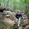 Kyle walking up the creek again. Digital, Trout Pond Recreation Area, West Virginia, Jun 2014.