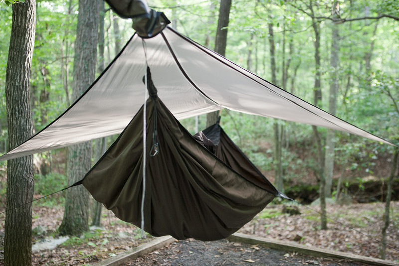 Pic of my hammock. Digital, Trout Pond Recreation Area, West Virginia, Jun 2014.
