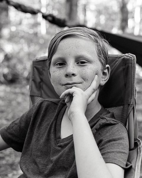 Camping at Trout Pond Recreation Area, WV. Tri-X medium format film. Jul 2017.