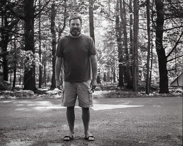 Camping at Trout Pond Recreation Area, WV. Tri-X medium format film. Jul 2017.