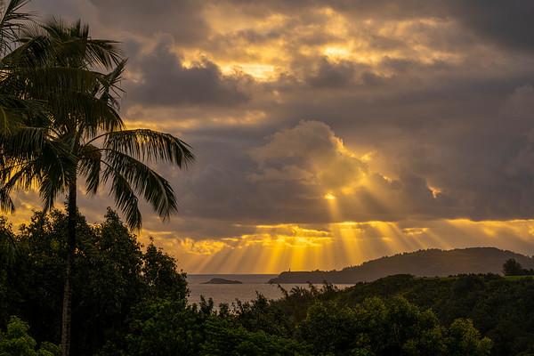 Sunrise over Kauai, #2053