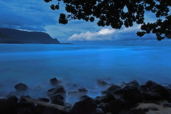 Blue hour in Kauai; #0767