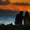 Sunset at Kaanapali Beach near the Starwood Resort, Maui, #0092