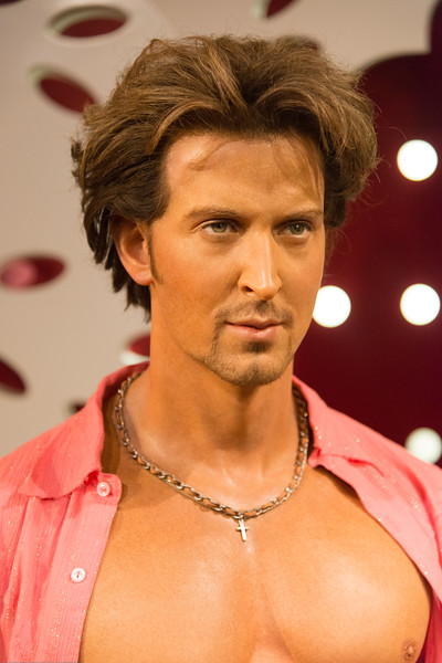 Hrithik Roshan. Indian Bollywood stars. Madame Tussauds Hong Kong, part of the renowned chain of wax museums founded by Marie Tussaud of France, is located at the Peak Tower on Hong Kong Island in Hong Kong.