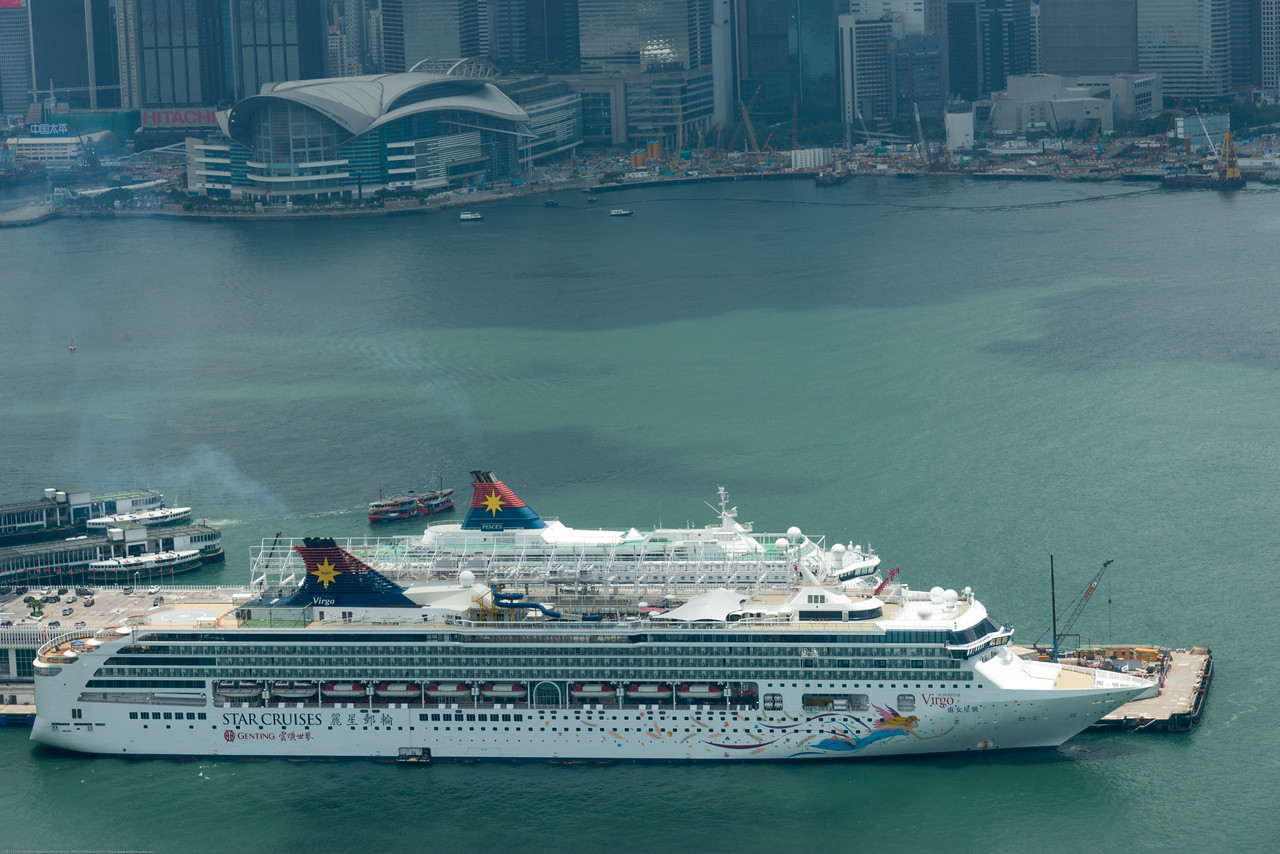 Star Cruises Virgo in the Hong Kong Harbour.