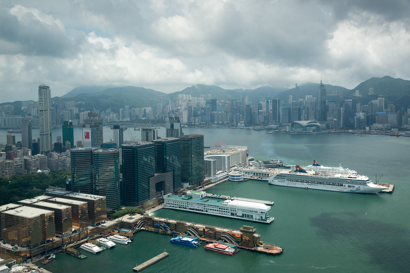 View of Hong Kong Harbour.