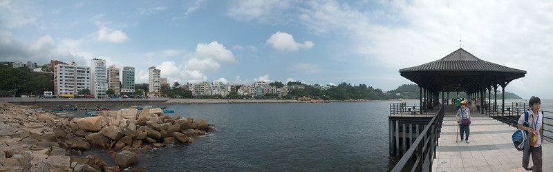 Panoramic view at Stanley Market, Hong Kong.
