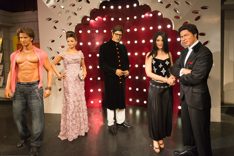 Indian Bollywood stars - Aishwarya Rai, Shahrukh Khan, Hrithik Roshan, Amitabh. Madame Tussauds Hong Kong, part of the renowned chain of wax museums founded by Marie Tussaud of France, is located at the Peak Tower on Hong Kong Island in Hong Kong.