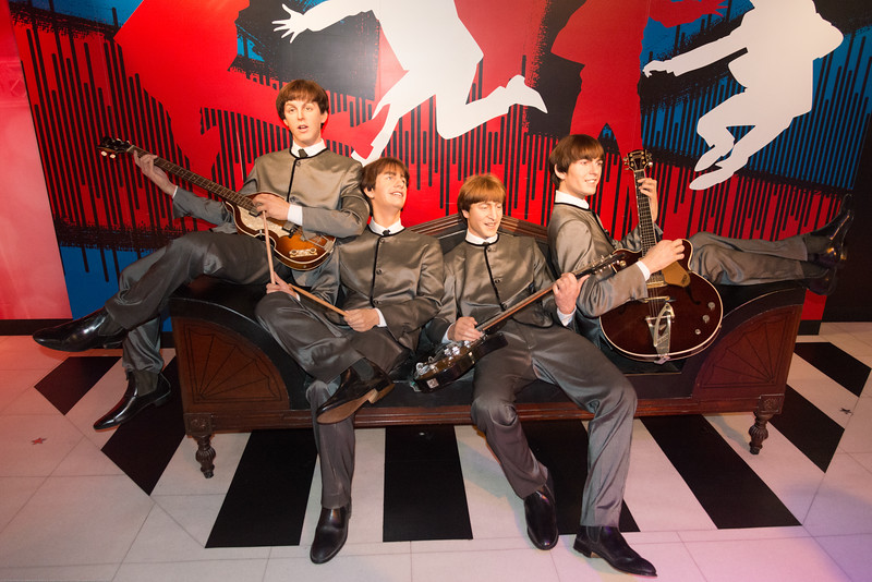 Beatles at the wax museum. Madame Tussauds Hong Kong, part of the renowned chain of wax museums founded by Marie Tussaud of France, is located at the Peak Tower on Hong Kong Island in Hong Kong.