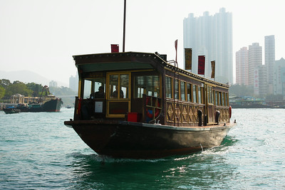 A ferry for the Jumbo and Tai Pak floating restaurants
