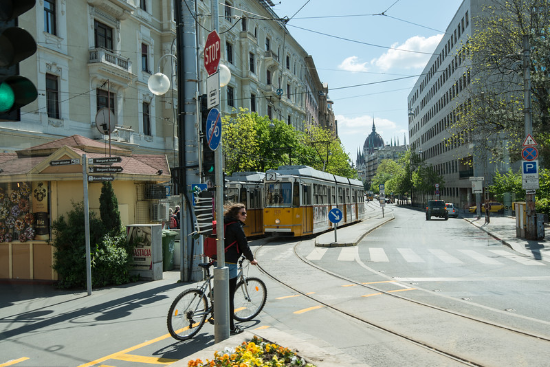 Streets of Budapest, Hungary.