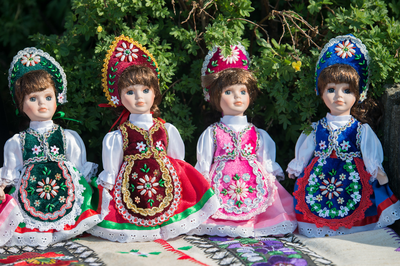 Hungarian dolls sold at Citadella, Hapsburg Fortress, Budapest, Hungary.