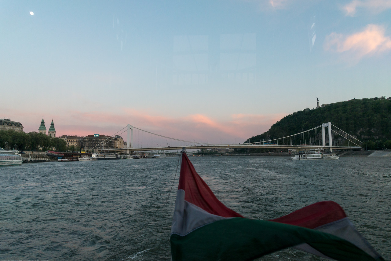 River cruise on the river Danube, Budapest, Hungary.