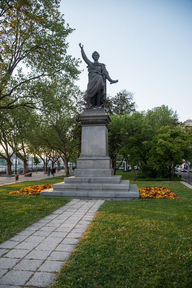 Petőfi tér, Budapest, Hungary.