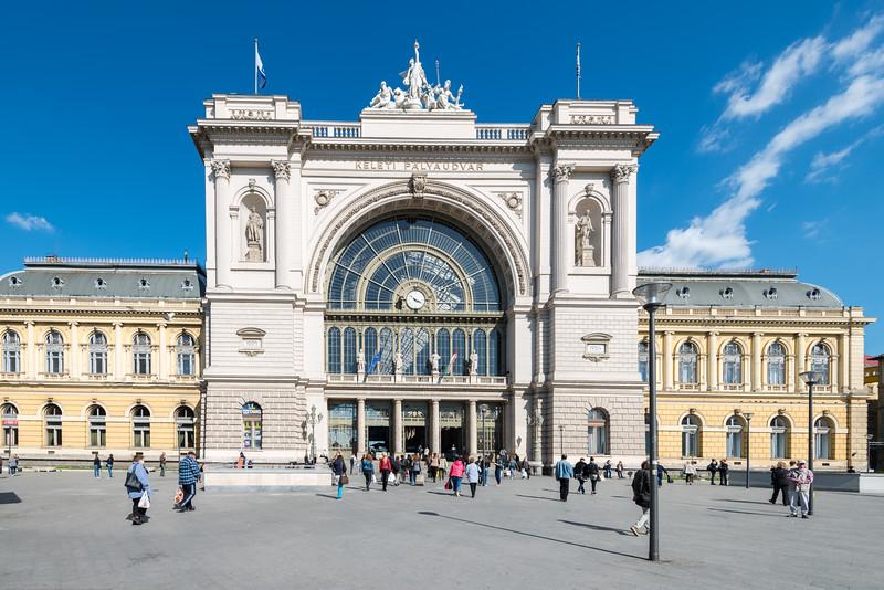 Budapest-Keleti Railway Terminal, Keleti Pályaudvar, Budapest, Hungary.