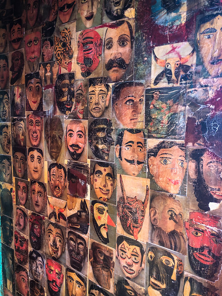 Faces on Wall