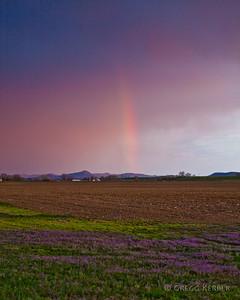 Rainbow in thunder storm near OR/ID border