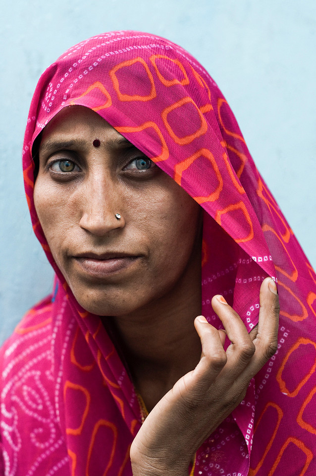Portrait of a Hindu woman.<br /> <br /> Bundi, India, 2011