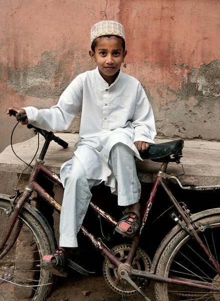Muslim boy in Bundi.<br /> <br /> Rajasthan, India, 2011.