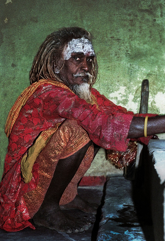 Sadhu in the holy city of Varanasi, India, 1997.