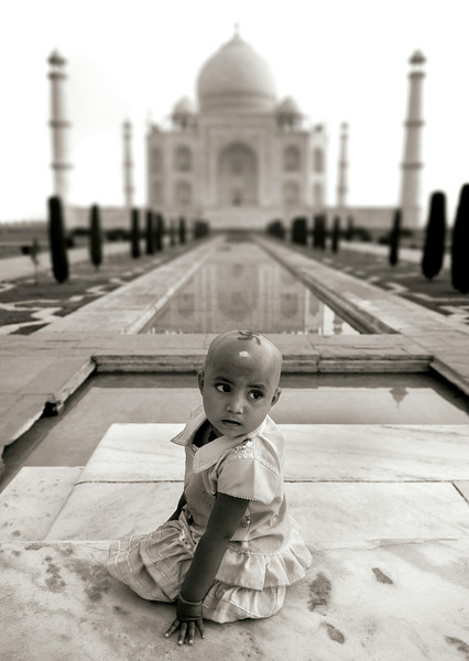 Swastika is a symbol connoting general auspiciousness. It may represent purity of soul, truth, and stability.  Taj Mahal, Agra, India, 2011.