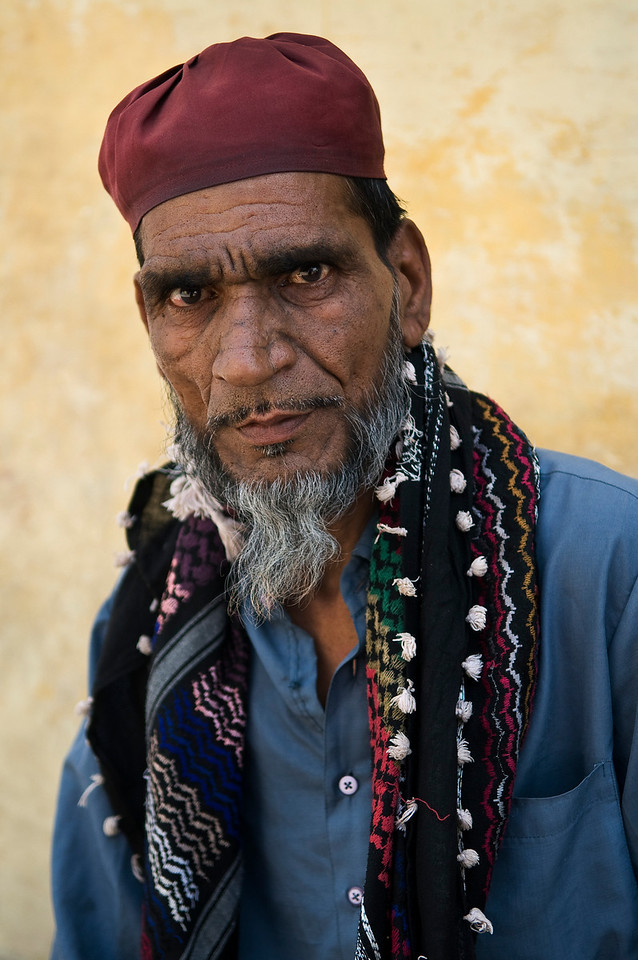 Portrait of a Muslim man, Bundi.<br /> <br /> Rajasthan, India, 2011.