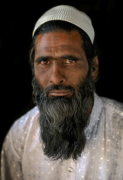 Portrait of a Muslim man.<br /> <br /> Rajasthan, India, 2011.