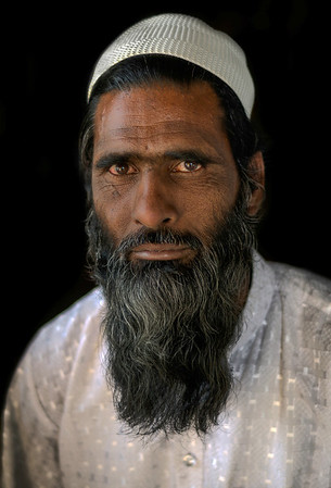 Portrait of a Muslim man.  Rajasthan, India, 2011.
