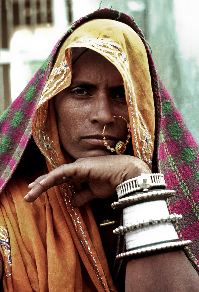 Portrait of a woman in Rajasthan, India, 2011.