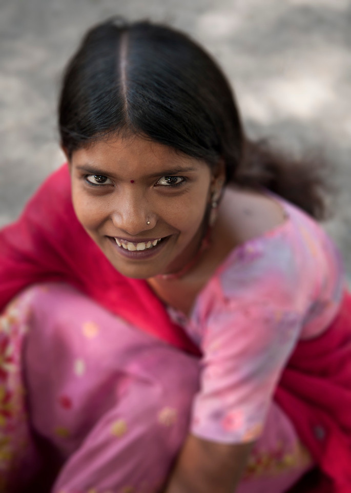 Portrait of a girl.<br /> <br /> Rajasthan, India, 2011.