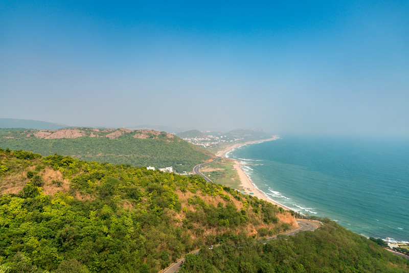 Kailasagiri (కైలాసగిరి) is a hilltop park & garden well known for a huge Shiva statue (Kailash) & picturesque views of forest & sea. Visakhapatnam (Vizag), Andhra Pradesh, India.