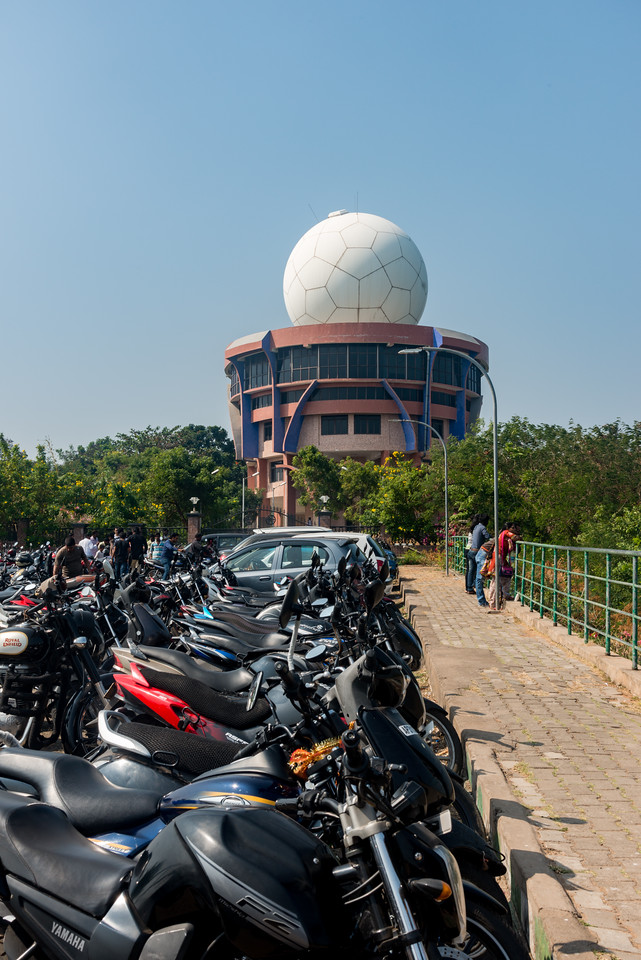 Doppler Weather Radar Station<br /> (దోప్ప్లేర్ వేఅతేర్ రాదర్ స్టేషన్) at Kailasagiri (కైలాసగిరి) - a hilltop park & garden well known for a huge Shiva statue (Kailash) & picturesque views of forest & sea. Visakhapatnam (Vizag), Andhra Pradesh, India.