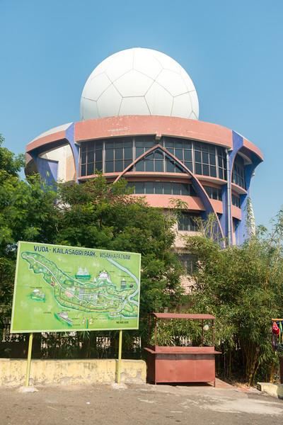 Doppler Weather Radar Station<br /> (దోప్ప్లేర్ వేఅతేర్ రాదర్ స్టేషన్), VUDA at Kailasagiri (కైలాసగిరి) - a hilltop park & garden well known for a huge Shiva statue (Kailash) & picturesque views of forest & sea. Visakhapatnam (Vizag), Andhra Pradesh, India.