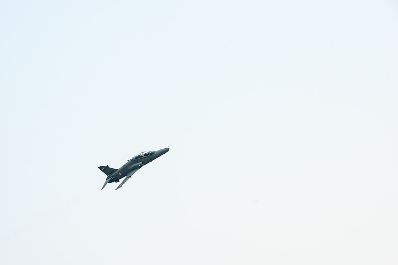 Indian Naval aircrafts fly over the Ramakrishna beach. The Eastern Naval Command, Visakhapatnam celebrated the Navy Day on December 4, marking the day Indian Navy Missile Boats carried out a deadly attack on Karachi Harbour in the 1971 Indo-Pak war.<br /> <br /> Public could view from RK Beach, the manoeuvres by Destroyers, Corvettes, fast attack craft and Landing Ships, beach assault by Marine Commandos, Sky Diving, close range anti-aircraft firing, band performance, formation anchoring, and a host of other exercises. A total of 17 ships, 13 aircraft, and a submarine took part in the grand display and demonstration.  Visakhapatnam (Vizag), Andhra Pradesh, India.