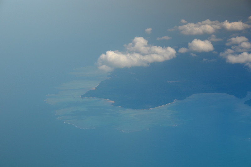 Ariel view of Port Blair, Andaman and Nicobar Islands, India.