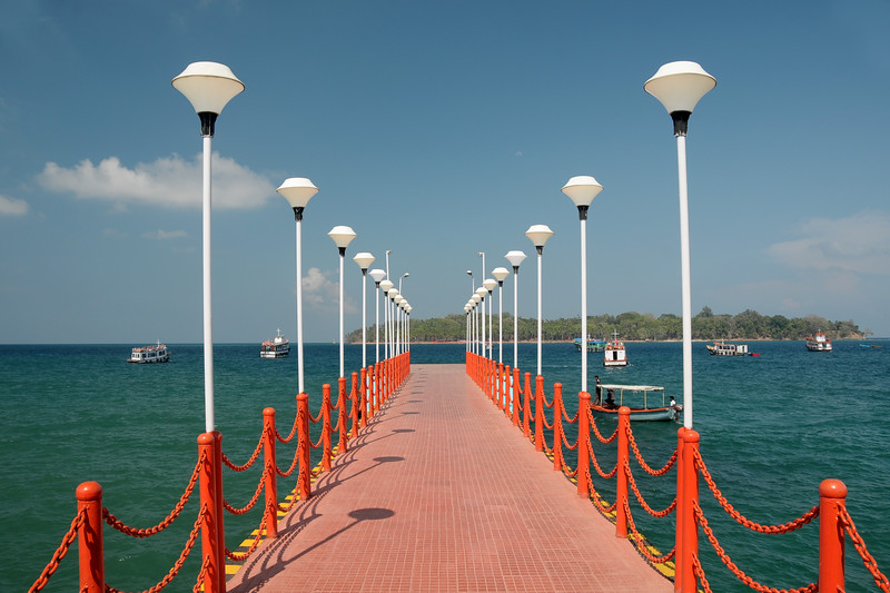 Jetty at Port Blair, A&N, Andaman & Nicobar, India.