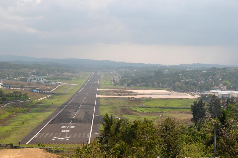 Runway at Port Blair, A&N, Andaman & Nicobar, Islands, India.