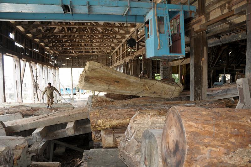 Chatham Saw Mill in Port Blair, A&N (Andaman & Nicobar) Islands.