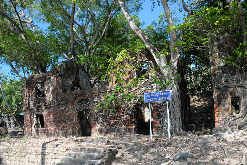 Officers' Quarters at Ross Island at Port Blair, A&N, Andaman & Nicobar, India.