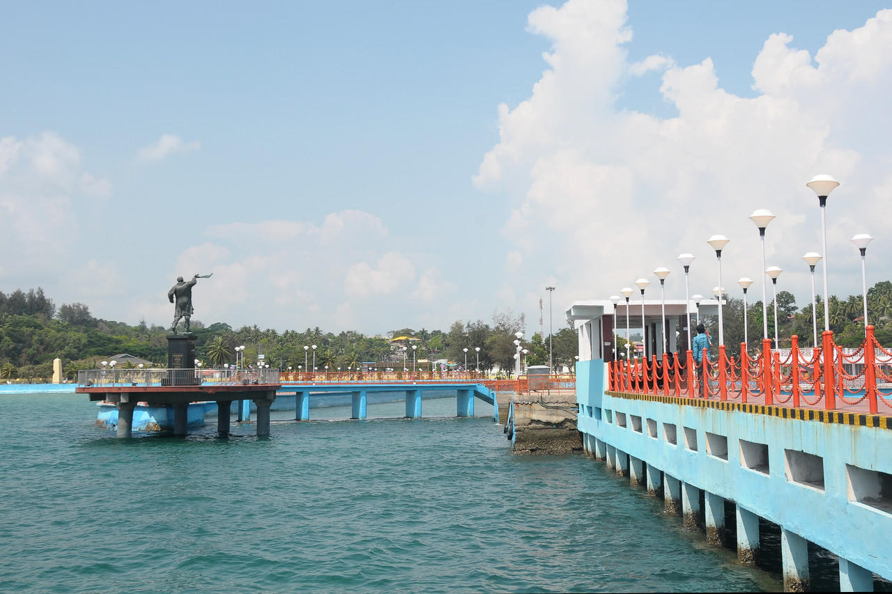 Jetty at Raji Gandhi Memorial, Port Blair, A&N, Andaman & Nicobar, Islands, India