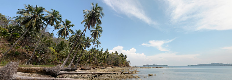 Panoramic view at Jolly Buoy island, A&N, Andaman & Nicobar, Islands, India
