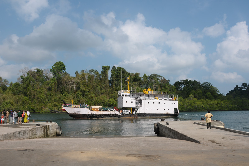 On the way to the limestone caves in Baratang,Andaman Islands, India.
