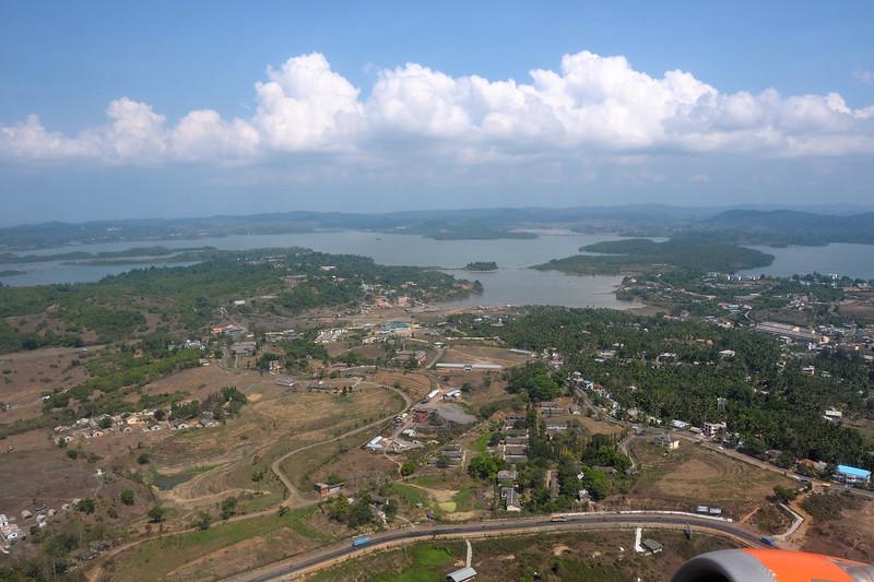 Ariel view of Port Blair, Andaman and Nicobar Islands, India.