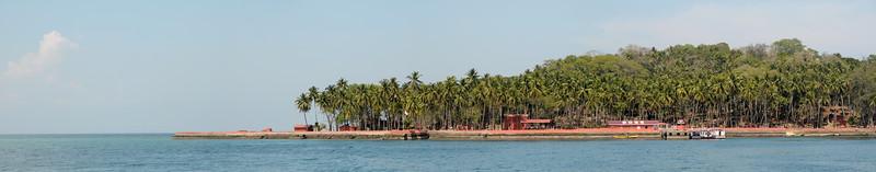 Panoramic view at Ross Island, A&N, Andaman & Nicobar, Islands, India.